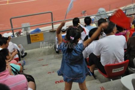 奥运场上的小观众
