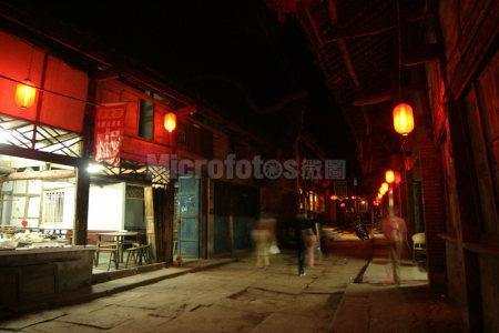 重庆涞滩古镇夜色
