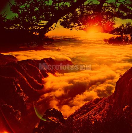 庐山云海夕阳