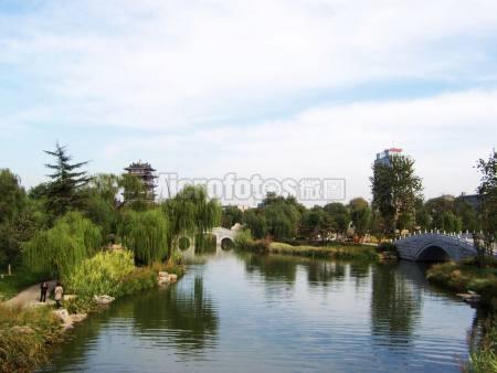 大明湖凝雪竹韻橋