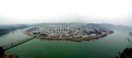 阆中古城全景