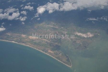 俯瞰广东雷州半岛