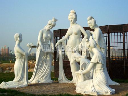杨贵妃沐浴雕塑