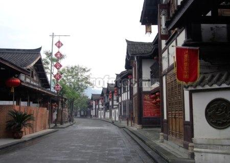 阆中古城街道