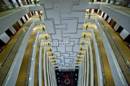 高层建筑内部