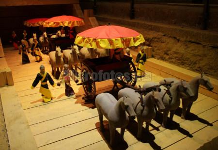 汉阳陵博物馆从葬坑陶马