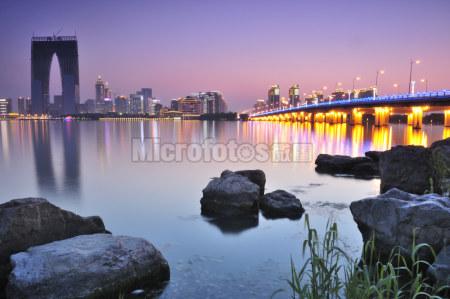 苏州金鸡湖夜景
