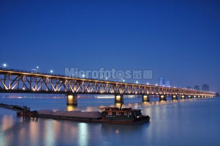 杭州钱江大桥夜景