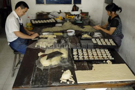 传统手工月饼制作
