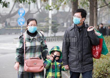 雾霾笼罩城市