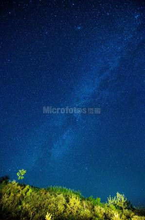 星空銀河星軌圖