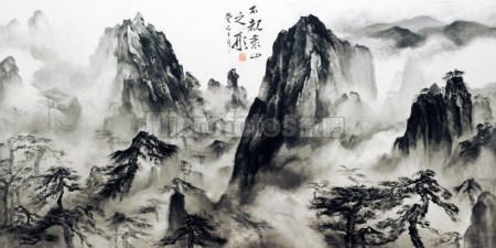 黄山水墨画