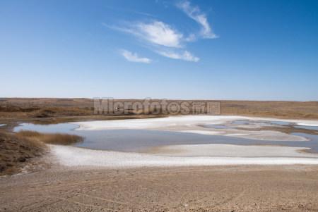 新疆荒漠湖泊