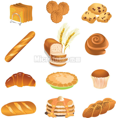 面包食品矢量图
