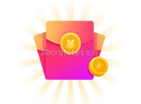 中奖三个紫色红包